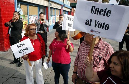 """""""Unite the Vote"""" demonstrators in Los Angeles in 2018."""