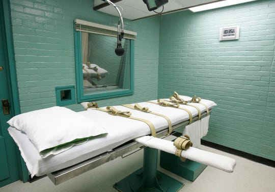 Gurney for executions on May 27, 2008, in Huntsville, Texas.