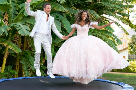 Tayshia and Zac C. dress up to capture some lovely wedding photos. He reveals himself to be a real survivor, surprising the Bachelorette and compelling her to see him in a different light.