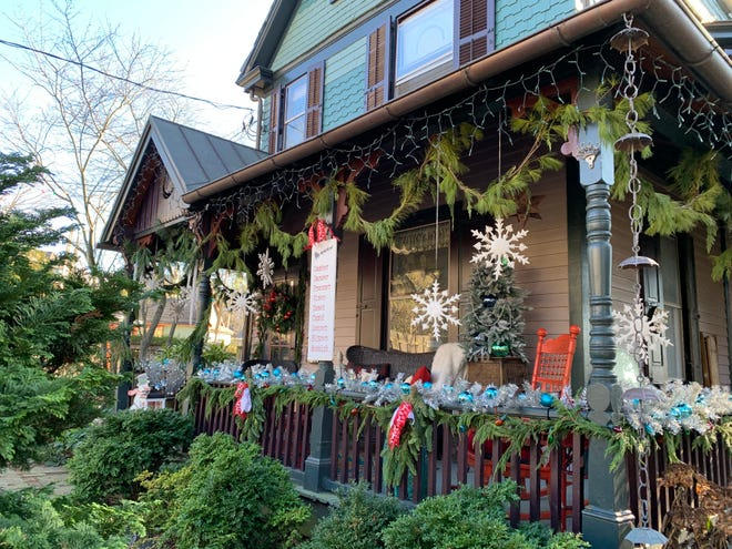 """The home of Joe and Lisa Farina is one of several homes along Bridge Street participating in the """"Christmas in Doylestown"""" outdoor house tour."""