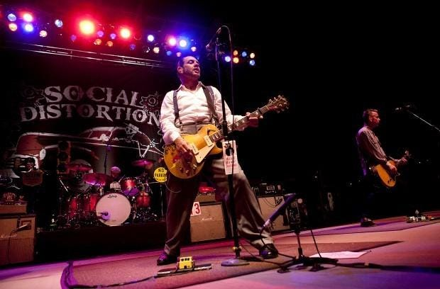 Social Distortion at the first outdoor show at Stage AE in May 2011. The Pittsburgh venue celebrates its 10th anniversary Dec. 3.