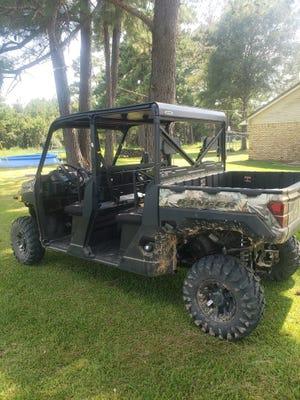 A 2020 Polaris Ranger was stolen from the East Beauregard area.