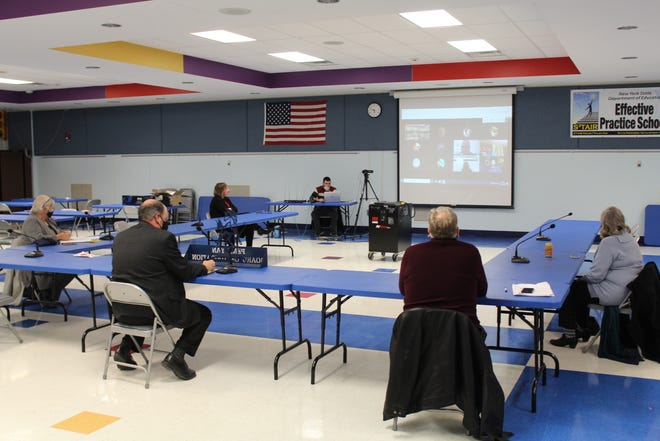 While they couldn't meet in person, several Penn Yan Academy students were able to attend the last Board of Education meeting for a listening session to give their thoughts on several questions posed by the members.