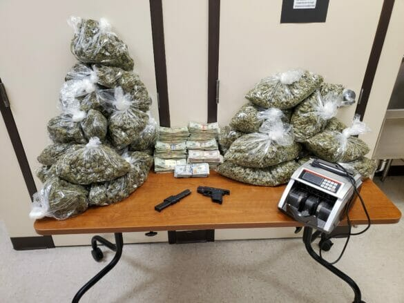 Hilliard police seized more than 20 pounds of marijuana and more than $100,000 from a home on the 3600 block of Sparrow Court on March 5. The search warrant helped kickstart an investigation that led to nine people being charged.