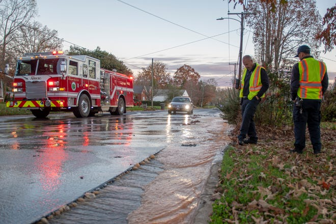 A portion of Uwharrie Street is closed on Tuesday, Dec. 1 due to a water main break.