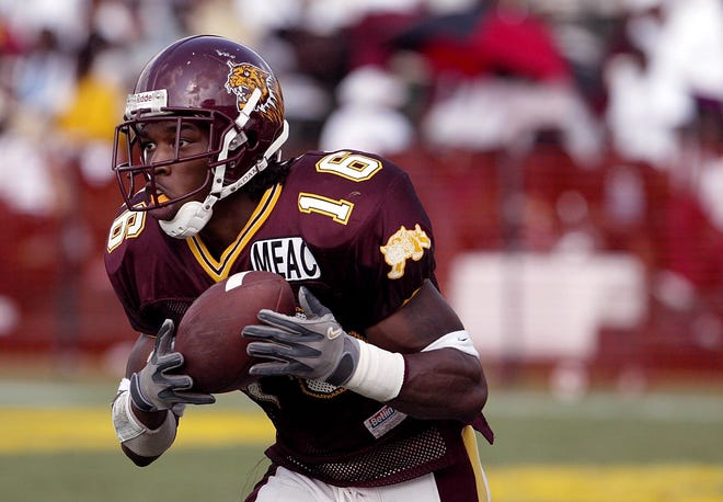 Bethune-Cookman football great Rashean Mathis, who later starred for the Jacksonville Jaguars, set an single-season interception record in 2002 as part of the Mid-Eastern Athletic Conference's list of 50 greatest moments as the conference celebrates its 50th anniversary.