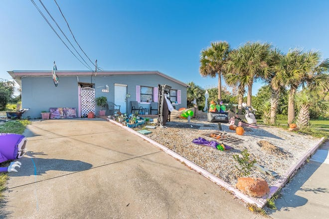 This four-bedroom, two-and-a-half beachside home on Hartford Avenue in Daytona Beach is just a two minute walk to the shore.