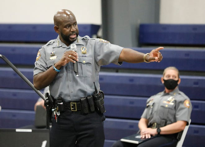 Daytona Beach Police Chief Jakari Young has a plan to address violence in Midtown: More patrols. He offered his ideas and listened to the community's at a meeting at the Midtown Cultural & Education Center in Daytona Beach, Monday, Nov. 30, 2020.