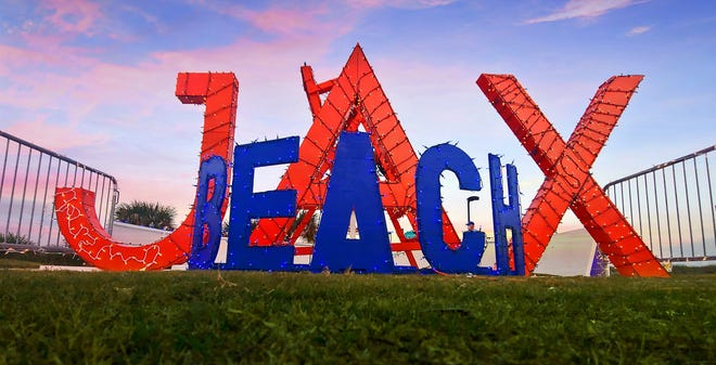 The City of Jacksonville Beach's decorated chair display was a clever play on its name, and a highlight of Deck the Chairs. The beloved annual holiday lighting event opened Nov. 21, and runs through Jan. 1, 2021.