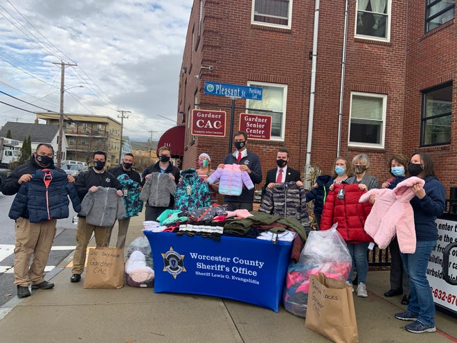 The first stop for delivery of new winter coats was the Gardner CAC on Dec. 1. The visit was part of the Worcester County Sheriff's Office annual winter coat drive.