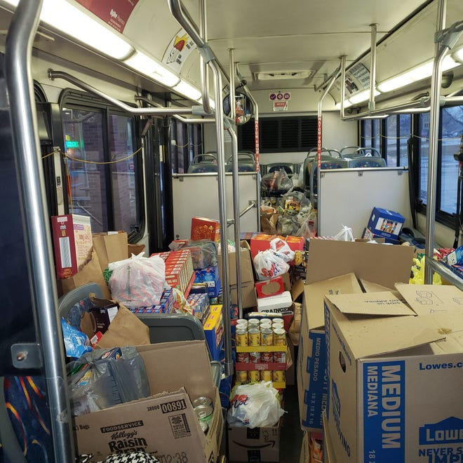City of Galesburg Transit recently held its first Stuff the Bus Food Drive event, during which over 5,000 non-perishable food items were collected throughout November for The Salvation Army Food Pantry.