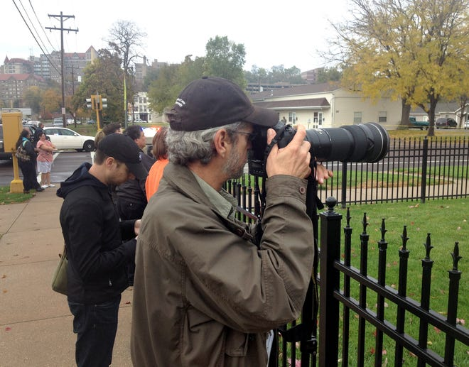 In this 2013 photo, David Zalaznik covers a standoff in the North Valley.