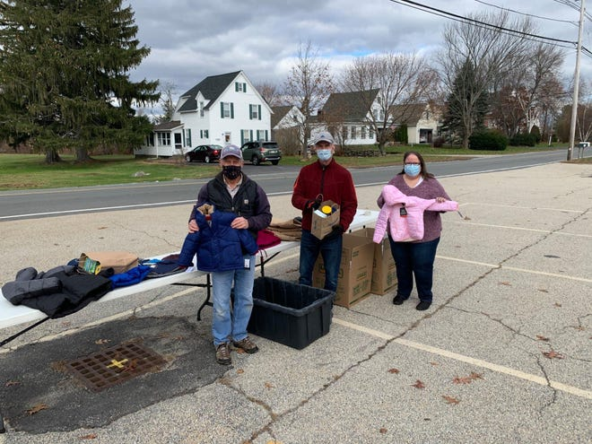 Volunteers at the First Congregational Church of Sutton's wintercoat drive Nov. 2020.