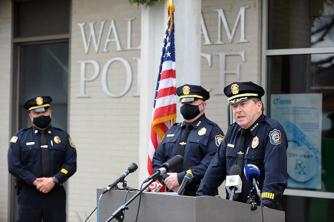 Waltham Police Chief Keith MacPherson announced during a press conference on Tuesday, Dec. 1, 2020, that the department is offering a $5,000 reward for information leading to an arrest in a series of unprovoked attacks.