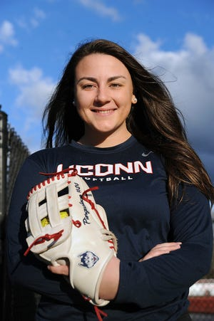 Emily Piergustavo, now a junior at the University of Connecticut, was a standout softball player at Milford High School.