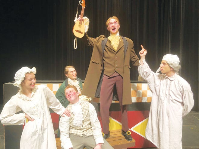Oak Ridge High School students have fun while practicing for 'Twelfth Night.'