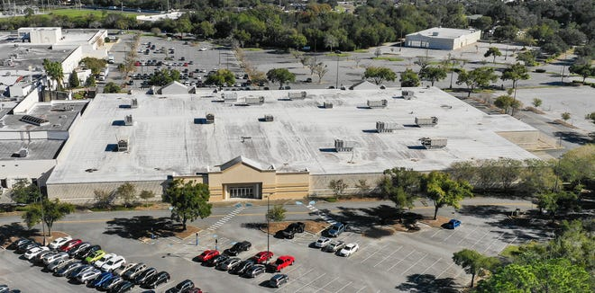 An aerial view of the former Sears store at the Paddock Mall is shown on Tuesday. Marion County Commissioners balked at the initial idea of purchasing the building, preferring a workshop to discuss storage issues facing Marion County Emergency Management.