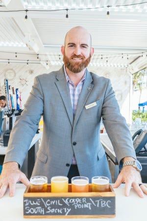 Craft beer aficionado Bryan Long, Eau's assistant food and beverage director.