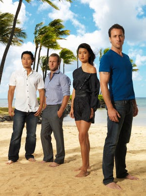 """""""Hawaii Five-0 (2010): The Complete Series"""" is being released on DVD Dec. 8. The series starred, from left, Daniel Dae Kim, Scott Caan, Grace Park and Alex O'Loughlin."""