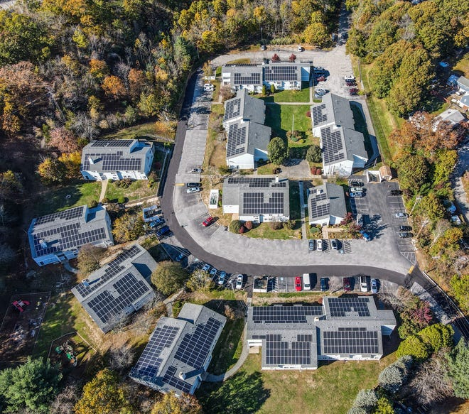 "A new ""community solar"" project at an affordable housing complex in West Warwick is the first of its kind in Rhode Island, according to developer Fairstead. (Photo: Fairstead)"