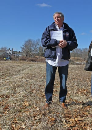 Al Costantino, of Smithfield, has sued the school superintendent over a no trespass order.