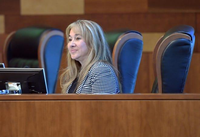 San Joaquin County Administrator Monica Nino during an Oct. 8, 2019, San Joaquin County Board of Supervisors meeting.