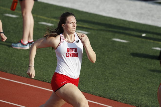 Challen Jackson, a former track and field star at Byron, runs in the Wheaton Invite as a member of the North Central College squad. Jackson is now making the move from athlete to coach.