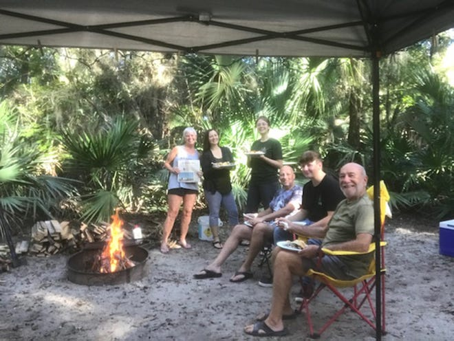 Faver Dykes State Park: While camping at Faver Dykes State Park, Jim and Phyllis Welu, St. Augustine, were joined for Thanksgiving dinner by their daughter, Katie and Ryan Mauch and their kids Aaron and Alina, St. Augustine.