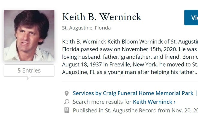 Obituary for Keith Werninck