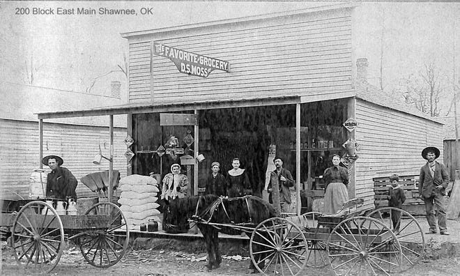 The Favorite Grocery Store was one of the thriving businesses on east Main Street in 1895.