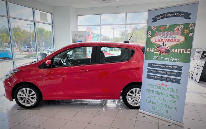 On January 30, 2021, a lucky ticket-holder will win this 2020 Chevy Spark as part of the Rotary Club of Shallotte's Las Vegas car raffle.