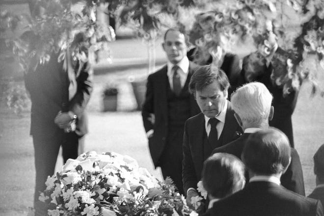 Actor Robert Wagner at funeral services of his wife, Natalie Wood, Dec. 2, 1981 in Los Angeles.