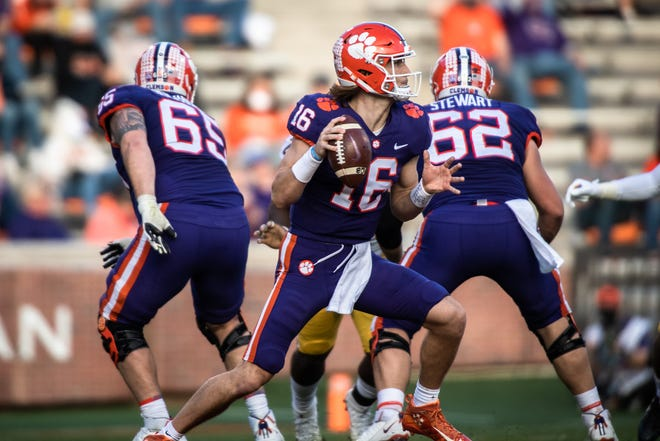 Clemson quarterback Trevor Lawrence and the Tigers face a Virginia Tech squad Saturday that has lost three in a row and four of its last five.