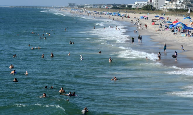 Wrightsville Beach, near Wilmington, in New Hanover County.