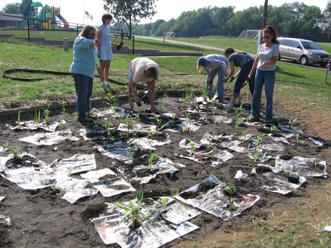 A rain garden project located at Boettler Park in Green City.
