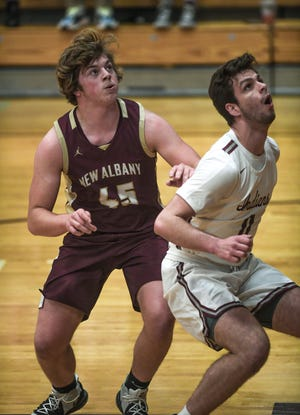 """Senior forward/center Braedon Elwer is one of the top returnees for New Albany, which is being led by a new coach in Ryan Grashel. Elwer said his role will be """"to crash the boards, rebound well and put up a few buckets here and there."""""""