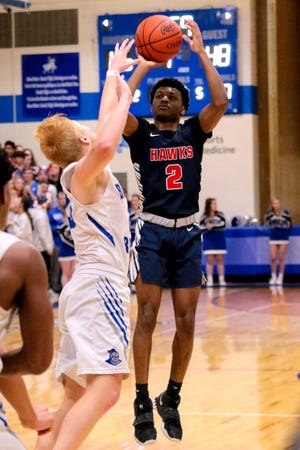 Senior guard Dejon Donnell and the Hartley boys basketball team are working to bounce back from a subpar 2019-20 season. The Hawks are scheduled to open Dec. 18 at home against St. Charles.