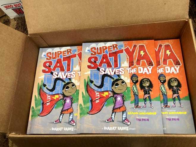 """""""Super Satya Saves the Day"""" is one the stories published by Mango and Marigold Press."""