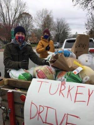 Three tons of turkeys gathered at the Annual Turkey Truck.