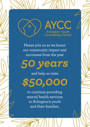 """The Arlington Youth Counseling Center is asking community members to contribute to the """"50k for 50 Years"""" fundraising campaign."""