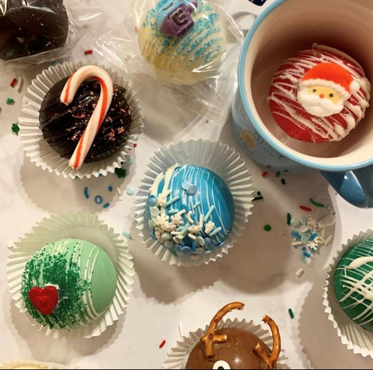 Hot cocoa bombs made by Danielle Busby, owner of Eat S'more.