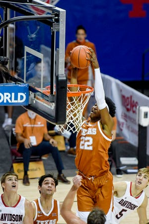 Texas defeated Davidson 78-76 in the first round of the Maui Invitational November 30, 2020 in Asheville.