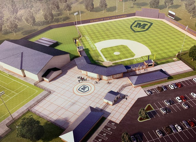 An artists rendering of Moeller's proposed athletic complex to be built in Miamiville