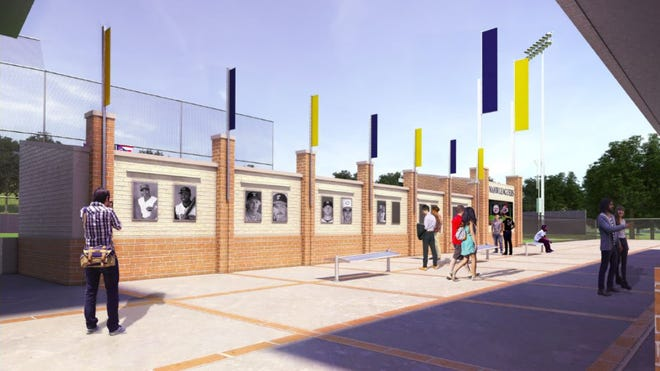 Artist rendering of the outside of Moeller's proposed new baseball stadium due to be completed fall 2021
