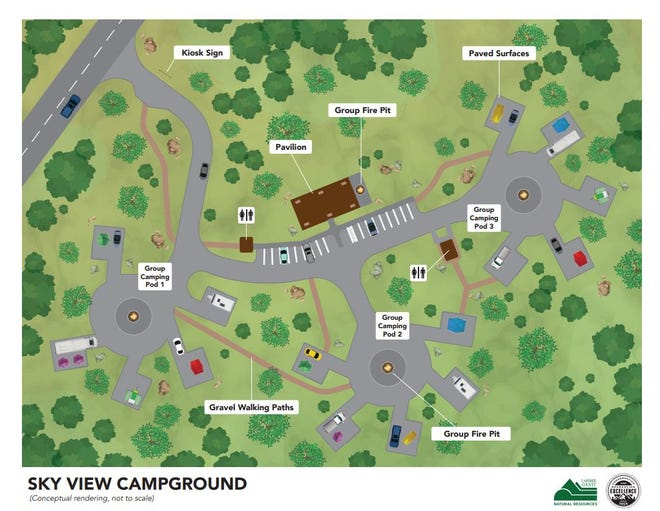 Sky View Campground at Carter Lake Reservoir will offer a pod design for campsites intended to accommodate large groups.