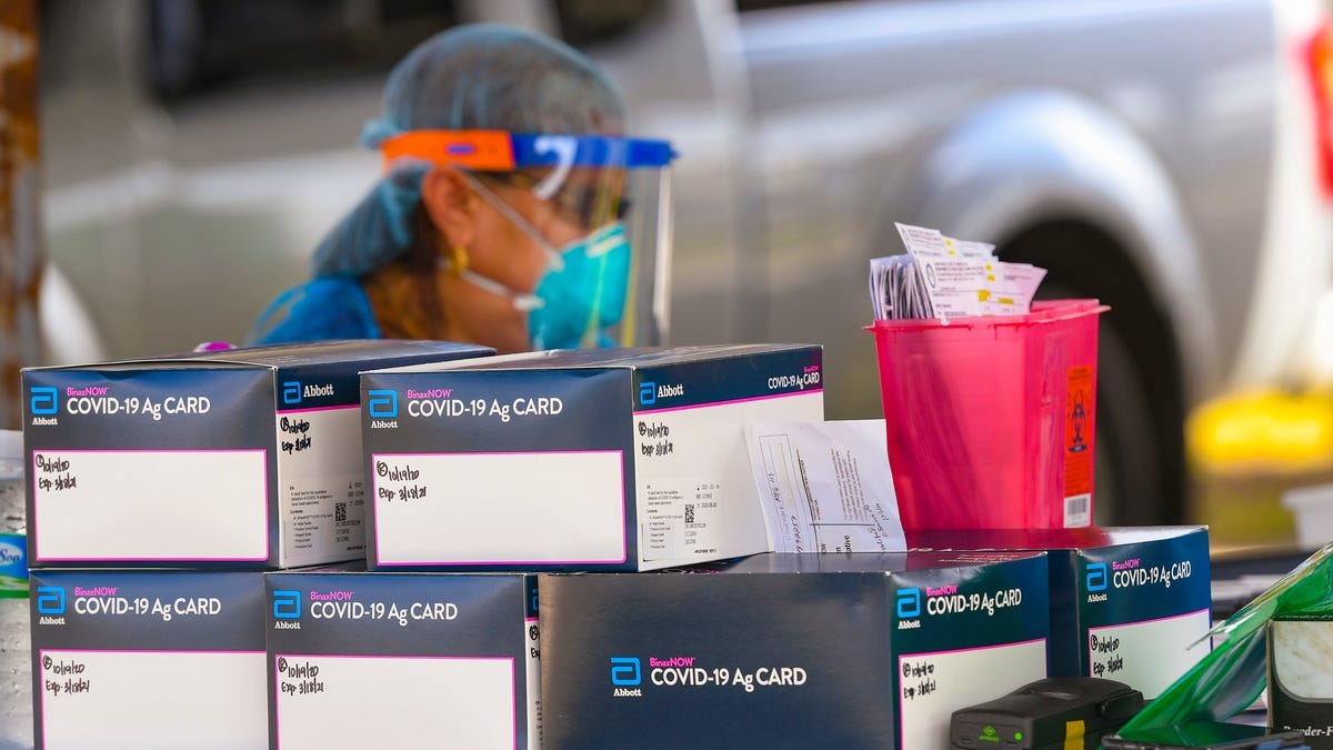 DPHSS uses antigen test cards to test for COVID-19