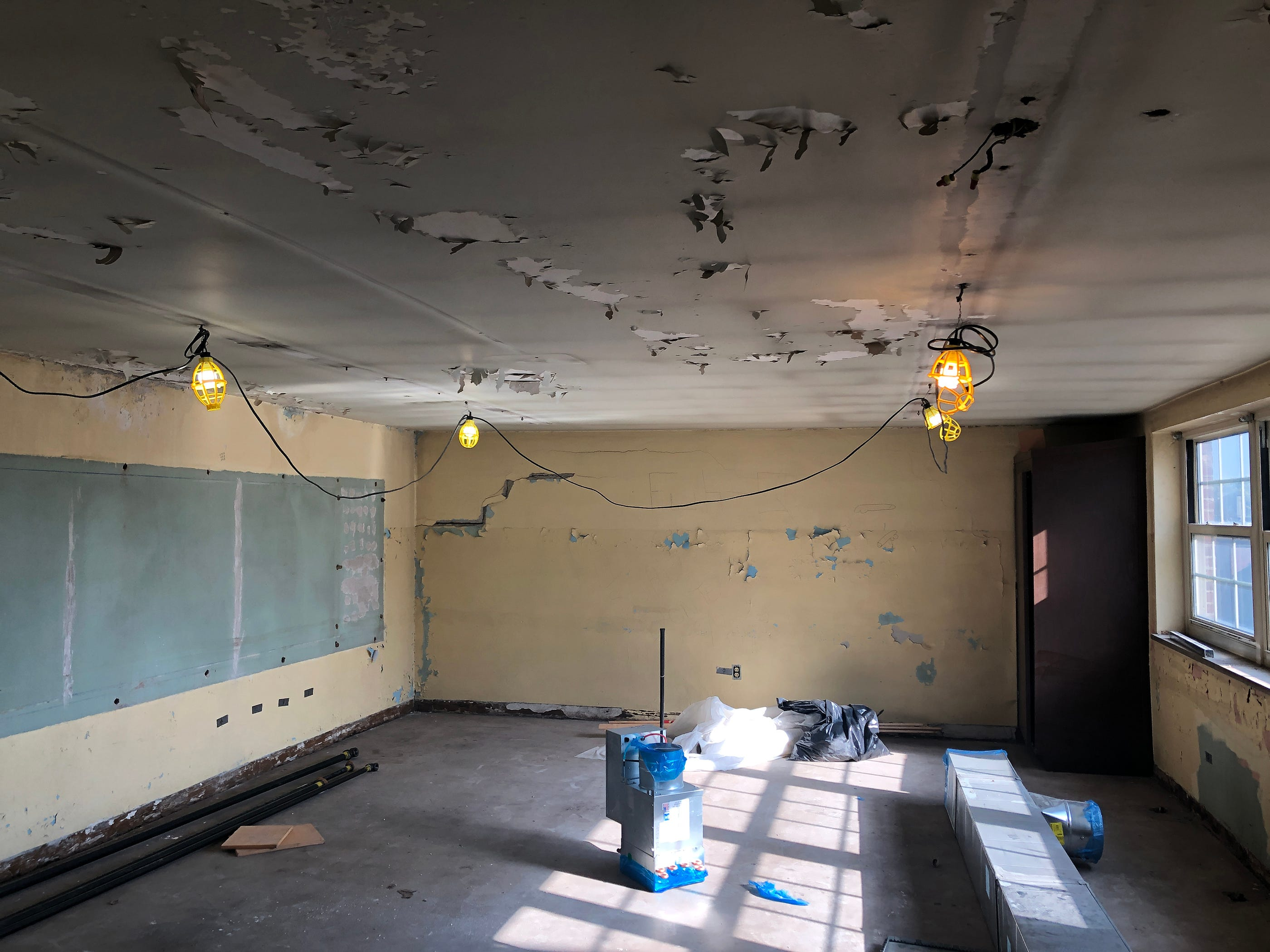 The third floor at the Academy @ Shawnee has stood frozen in time since it was abandoned in 1981 because of shrinking enrollment at the school. It's now part of a new renovation project.