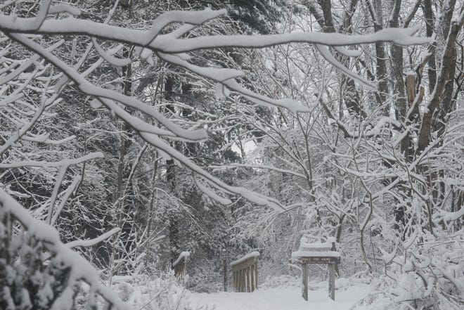 The season's first major storm left Richland County covered with several inches of snow.