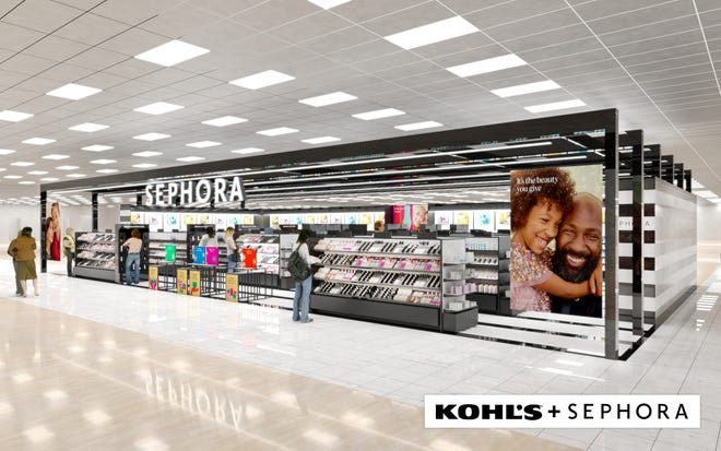 "A rendering of the ""Sephora at Kohl's"" locations launching at 200 stores in the fall of 2021."