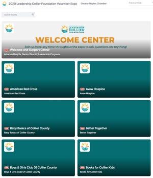 A screenshot of the virtual expo platform.